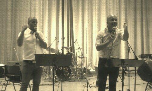 Bruno (t.v.) och Renzo (t.h.) Noé