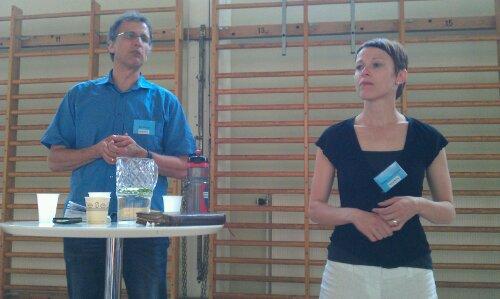 Bob Ekblad och Karin Tängermark som tolkade