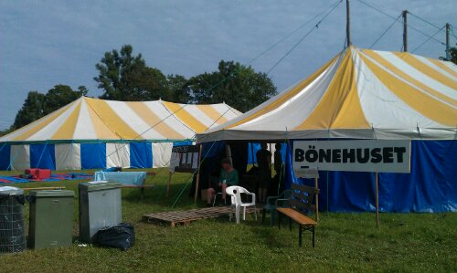 De två tälten