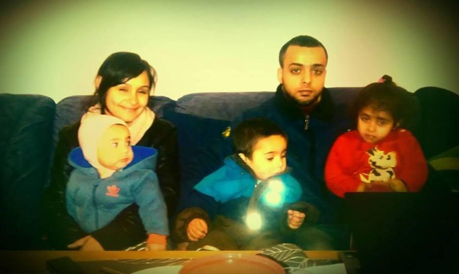Alina med sonen Benjamin, Abel, Christi och Anelisa