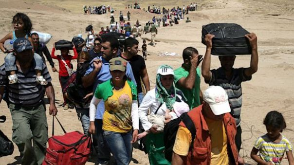Syriska flyktingar, bild från ABC News