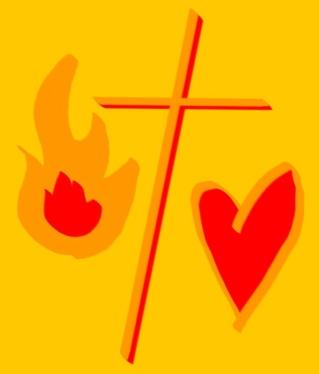 Kraften, korset och kärleken - symbol för Hela Pingsten