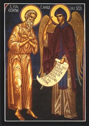 Pachomius tar emot sin klosterregel från en ängel