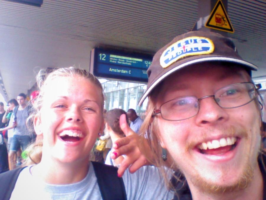 På tågstationen i Hannover!