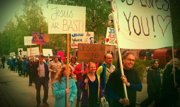 Jesusmanifestationen i Umeå förra året