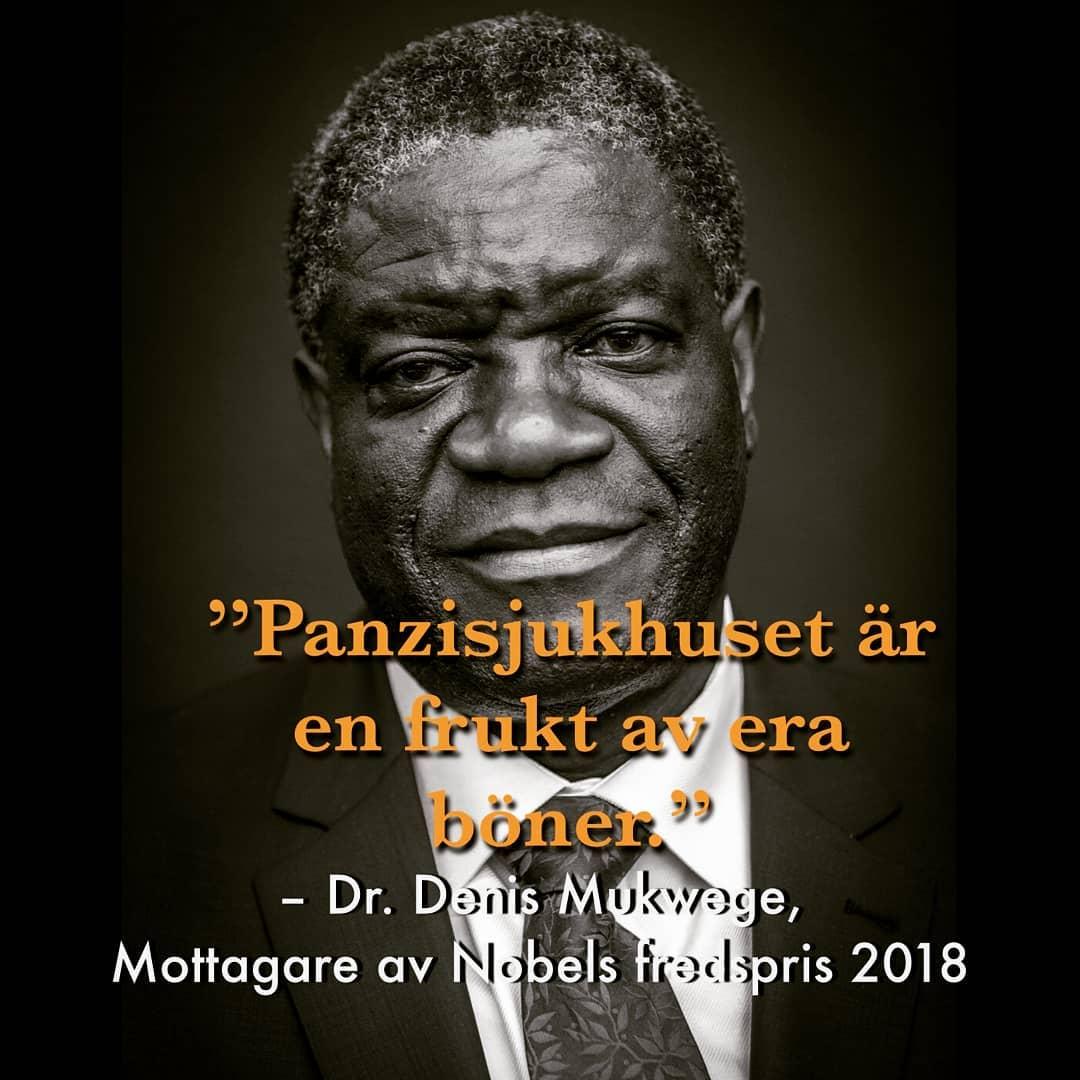 Mukwege visar hur karismatisk kristendom ska se ut