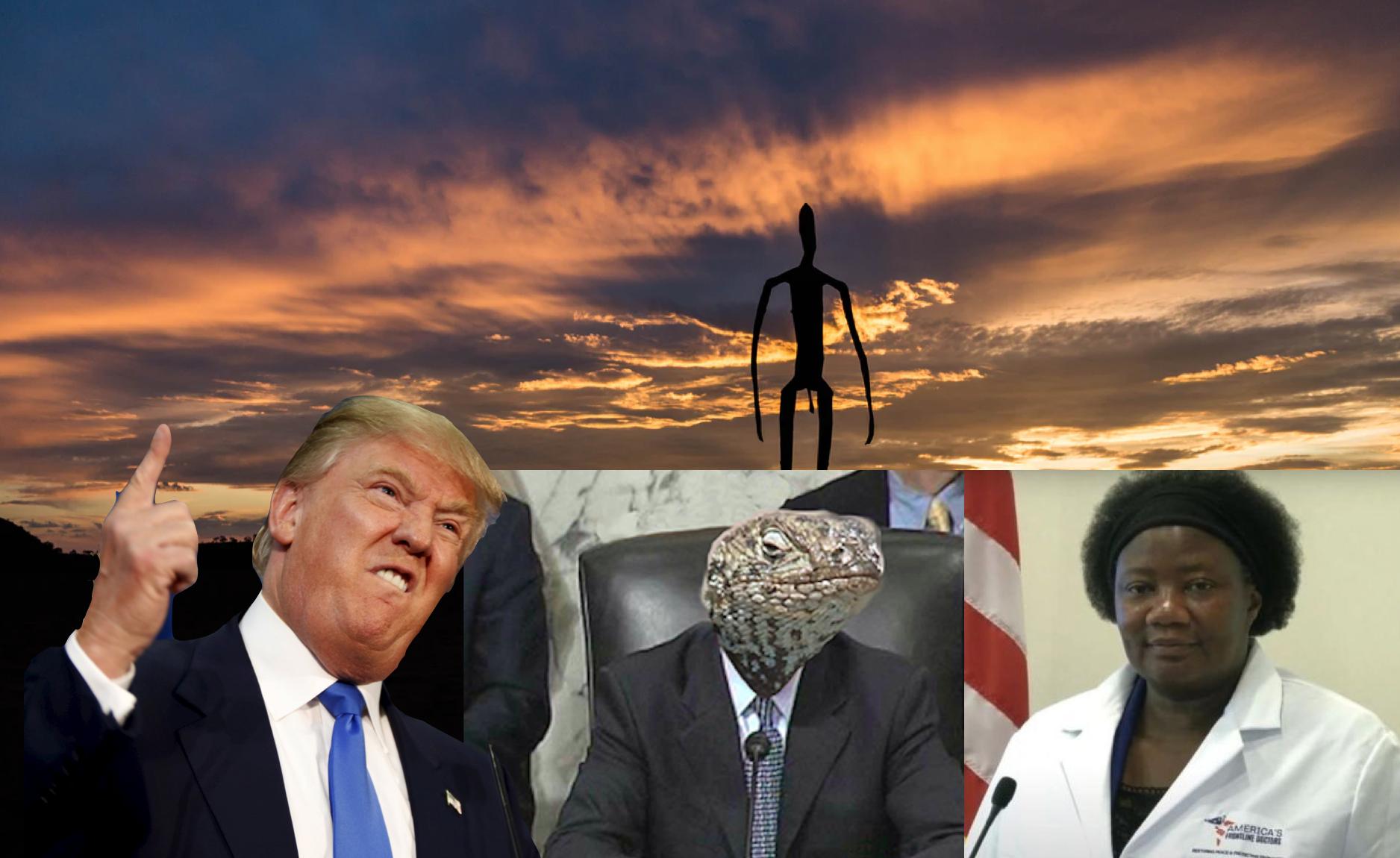 Trump delar corona-video med läkare som tror på utomjordiskt DNA, demonsex och reptilmänniskor